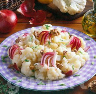 Lajos Mari konyhája - Hagymás-diós karfiolsaláta