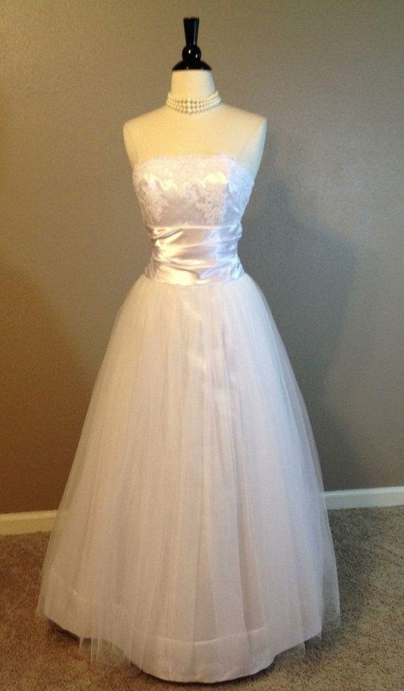 Vintage Jessica McClintock Strapless Wedding by TheLastCurtsy, $95.00