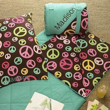 peace sign sleeping bag