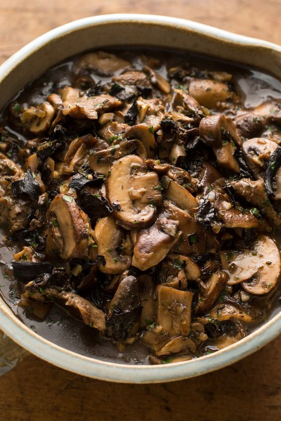 Martha Rose Shulman's Mushroom Ragout - NYTimes. I like to use this as a gravy at Thanksgiving, instead of actual gravy, but that is far from its only use I serve it on its own, as a side dish, as the base for a risotto and a filling for a pie, taco and quesadilla, as a sauce for pasta and an omelet filling.