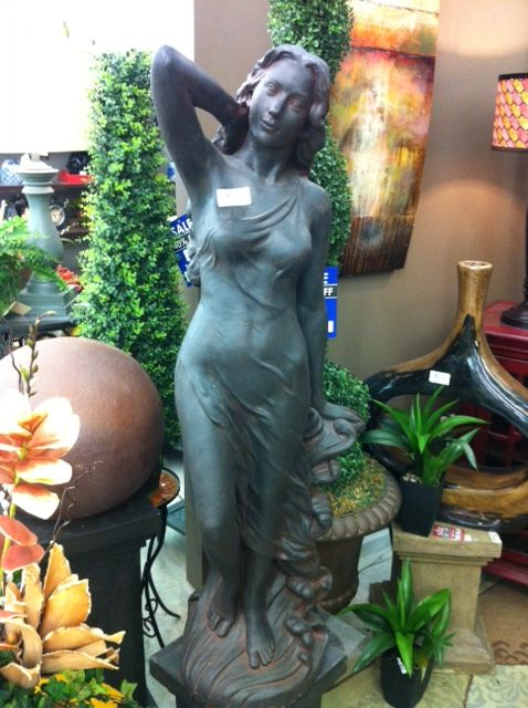 Cast Stone Tuscan Lady Garden Sculpture At Trees N Trends
