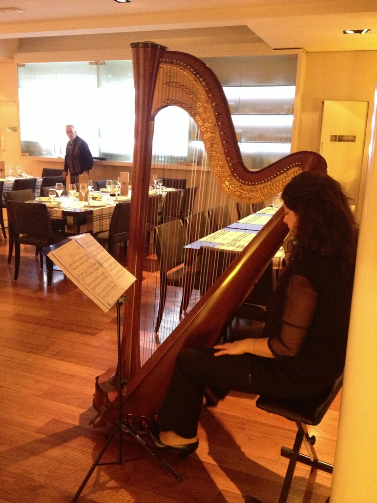 last night at our restaurant a magic moment with the harp