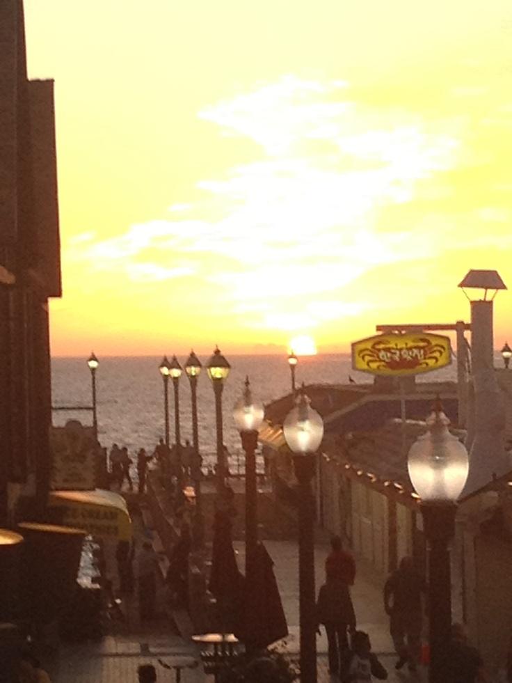 Redondo Beach Pier At Sunset