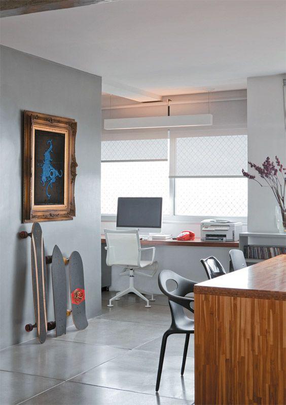 Loving this terrific workspace in a São Paulo apartment.