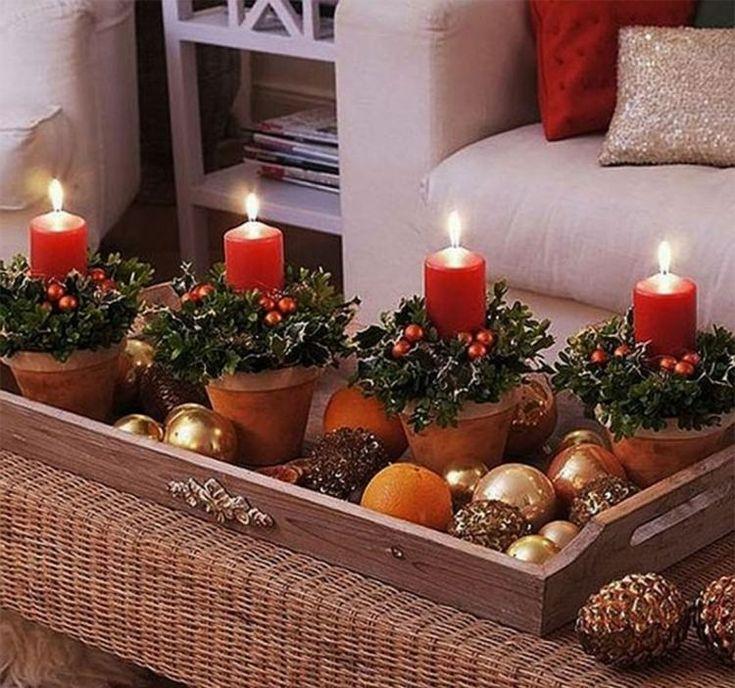intérieur-déco-de-Noël-idées-originales-cones-pin-bougies-table-salon