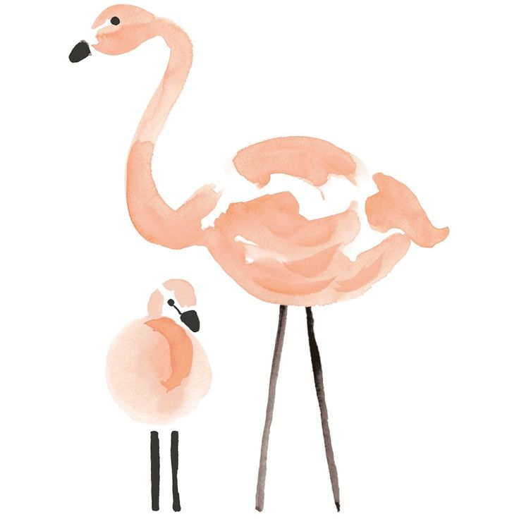Sticker les flamants roses Flamingo by Lucie Bellion :