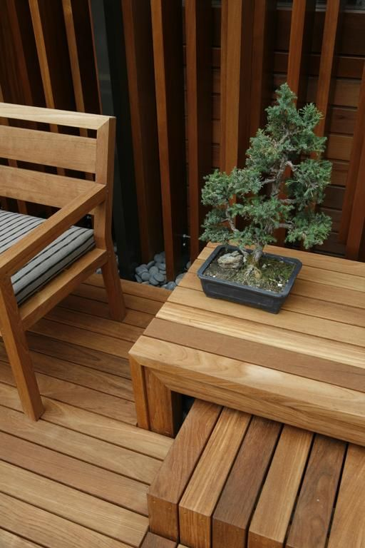 Natural wood outdoor furniture