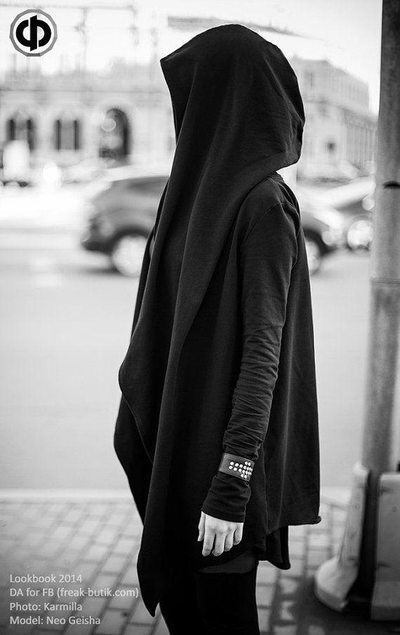 Mantle with big hood and gloves Мантия с большим by FreakButik