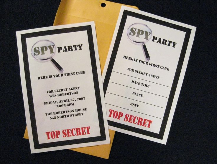 79 best images about Mystery Spy party – Clue Party Invitations