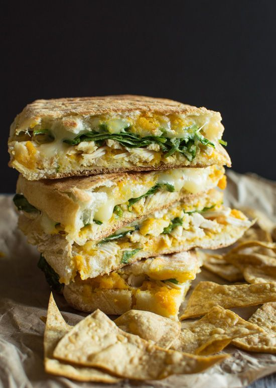 Chicken Panini with Butternut Squash | healthynibblesandbits.com #sponsored