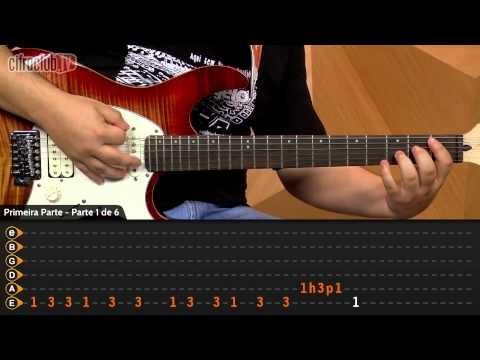 """Video aula de guitarra com o Vinicius Dias do CifraClub com a música """"Suck My Kiss"""" – Red  Hot Chili Peppers."""