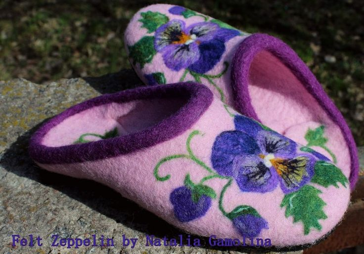♡ these felt slippers at www.etsy.com/uk/shop/FeltZeppelin