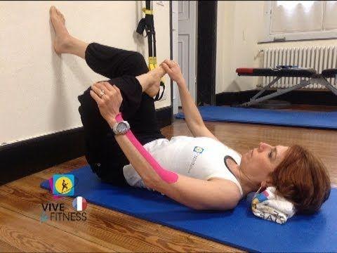 Exercice pour étirer les muscles qui compriment le nerf sciatique (syndrome du piriforme) causant l'inflammation et les douleurs (type sciatalgie). Abonne-to...