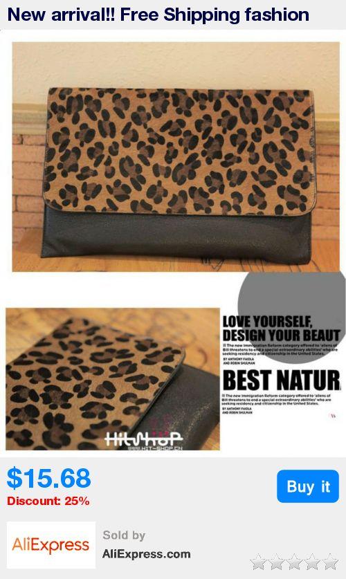 New arrival!! Free Shipping fashion leopard print bag, Women leopard handbag, casual envelope clutch wallet and purse, party bag * Pub Date: 21:41 Apr 10 2017