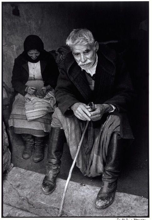 """Greece. Crete. 1964. Blind man in doorway of his house. """"A Greek Portfolio"""" p.5 © Costa Manos/Magnum Photos"""