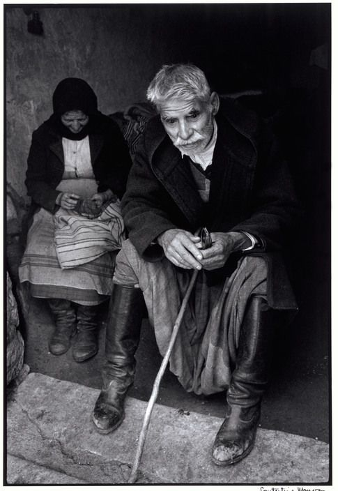 "Constantine Manos  Greece. Crete. 1964. Blind man in doorway of his house. ""A Greek Portfolio"" p.5 © Costa Manos/Magnum Photos"