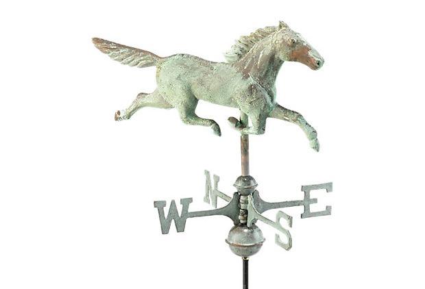 Blue Verde Stallion w/ Pole on OneKingsLane.com
