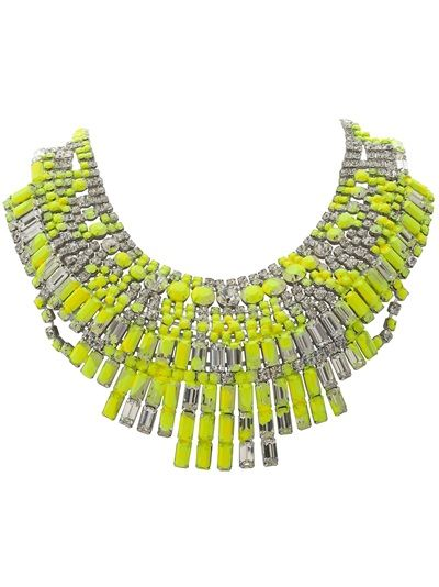 TOM BINNS 'Splash Out' Neon Massai Necklace #necklace #neon