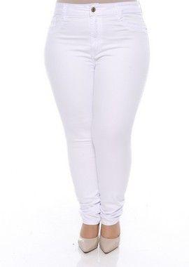c57da5517 Calça Branca Plus Size Najila   vestidos em 2019   Capri pants ...