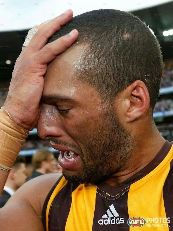 Josh Gibson - emotional after the 2013 Grand Final win. ♥