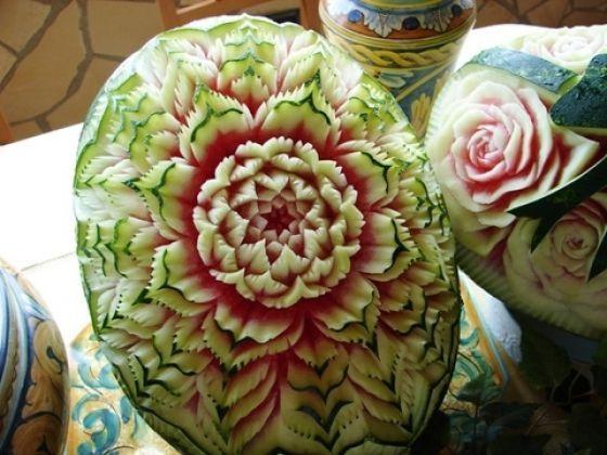 Beautiful watermelon craft: Watermelon Crafts, Crafts Ideas, Design Ideas, Watermelon Carving, Inspiration Food, Beautiful Watermelon, Astonish Watermelon, Food Design, Food Art