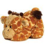 Aurora Kuscheltier Giraffe braun, Stofftier liegend Giraffenbaby aus Plüsch 28 cm