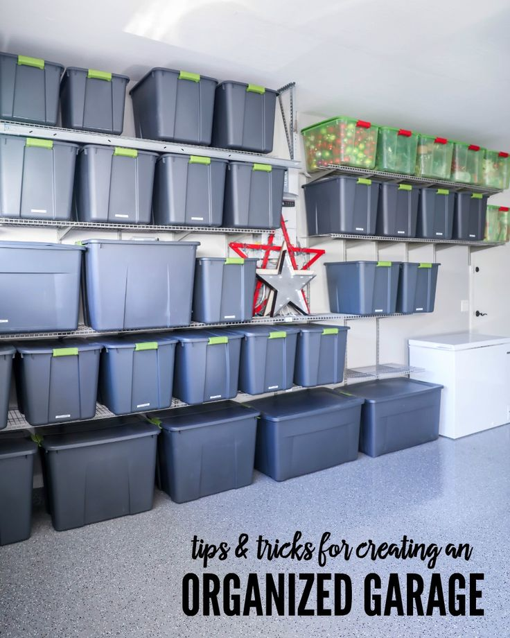 Tips and Tricks for creating an organized garage!