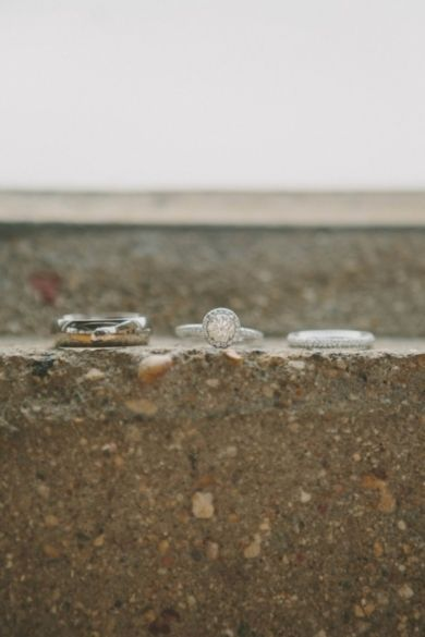 Rings in a row|Handmade Pink and Mint Wedding|