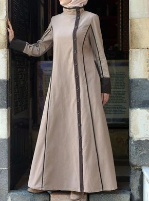 Hijab Fashion 2016/2017: Sélection de looks tendances spécial voilées Look Descreption One of our favorite #jilbab styles. So classy! Yusra Jilbab from SHU