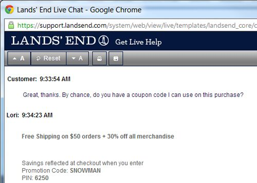 Lands' End Live Chat