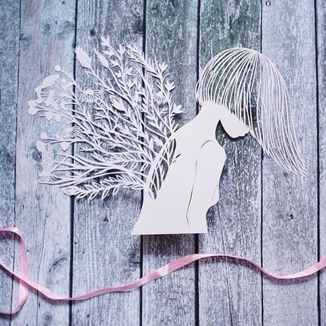 Kağıt Kesme Sanatıyla Moda İllüstrasyonları Tasarlayan Sanatçı: 'Eugenia Zoloto' Sanatlı Bi Blog 33