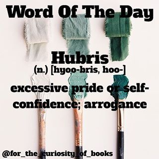 hubris literary definition