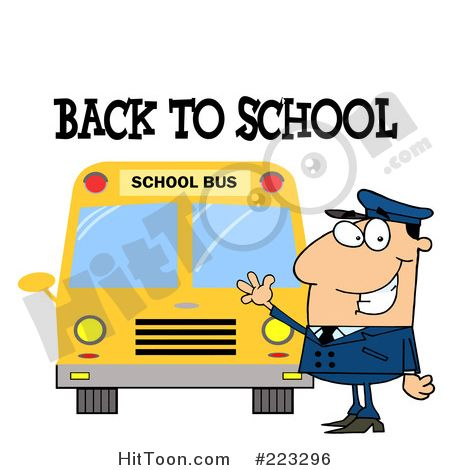 School Bus Driver Clipart #223296: Back to School Greeting over a ...