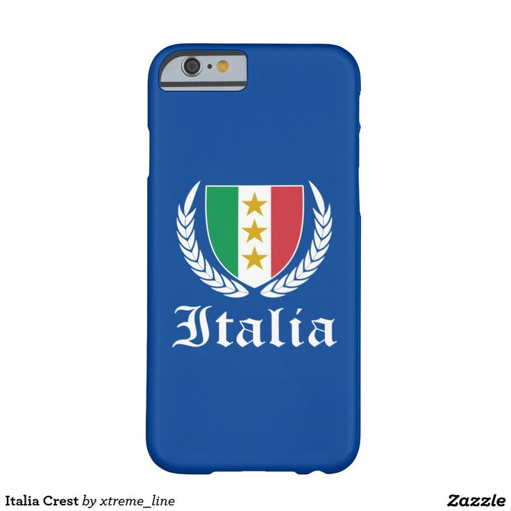 Italia Crest Barely There iPhone 6 Case. #Italy #Zazzle