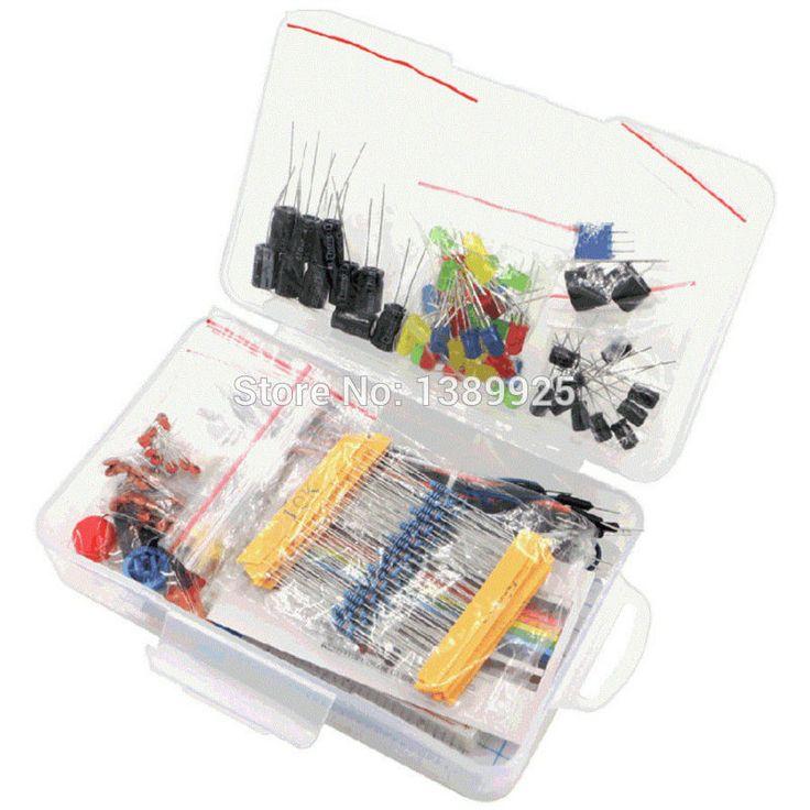 Starter Kit untuk Arduino Resistor/LED/Kapasitor/Kabel Jumper/Breadboard resistor Kit dengan Kotak Ritel
