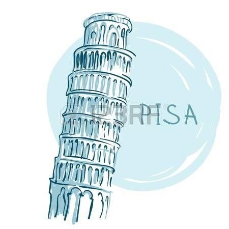 Всемирно известной серии ориентир: Пизанская башня, Пиза, Италия, Европа photo