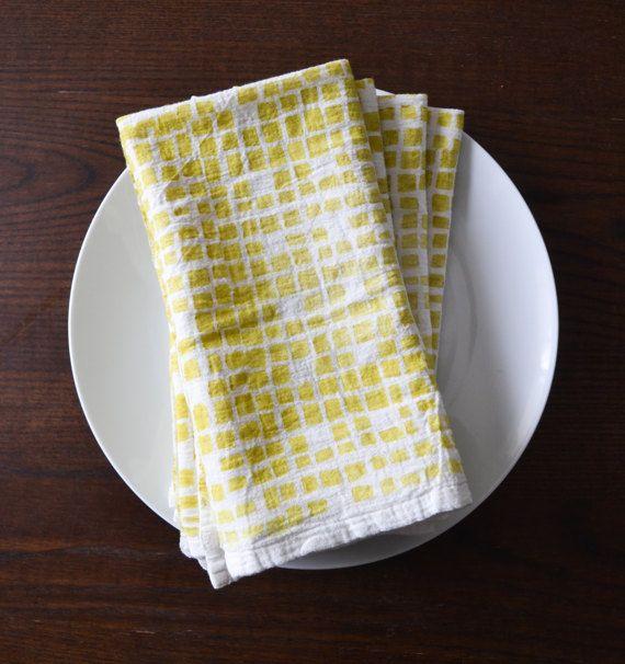 Cloth napkin set, block print napkins, mother's day gift, flour sack napkin, cotton napkin, midcentury napkin,housewarming gift,hostess gift