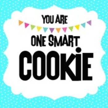 """Cute """"tag"""" to use for student incentives, back to school favors, classroom prizes, etc. (cookies not included) - lol."""