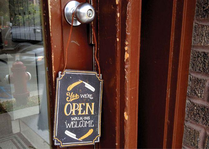 Barber Shops Open : Barber Shop Branding Yes Were Open Barber Shop Pinterest