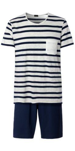 Pijama Corto Hombre de Jersey Flameado Rayado - Intimissimi