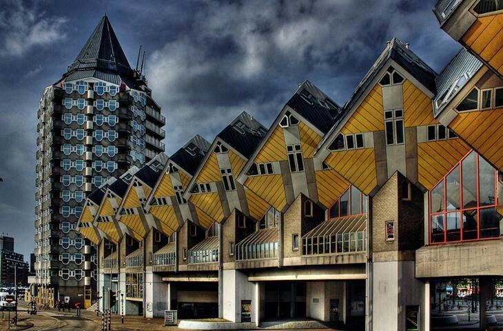 17 best images about rotterdam pins house cubes and the for Huizen rotterdam