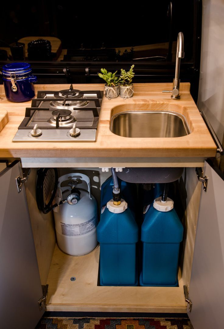 Vanlife Customs Van Conversion Sink and Water Syst…