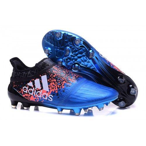 Neue Adidas X 16 Purechaos FG AG Fußballschuhe Blaues Schwarzes Silber
