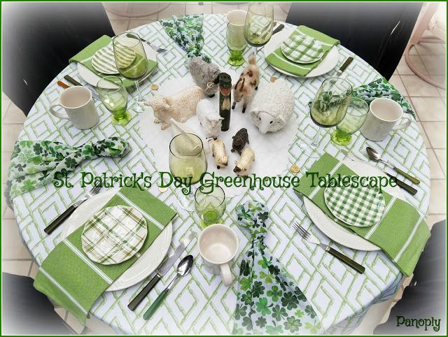 Panoply: St. Patrick's Day Greenhouse Tablescape