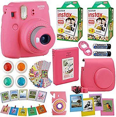 Amazon Com Fujifilm Instax Mini 9 Instant Camera Flamingo Pink
