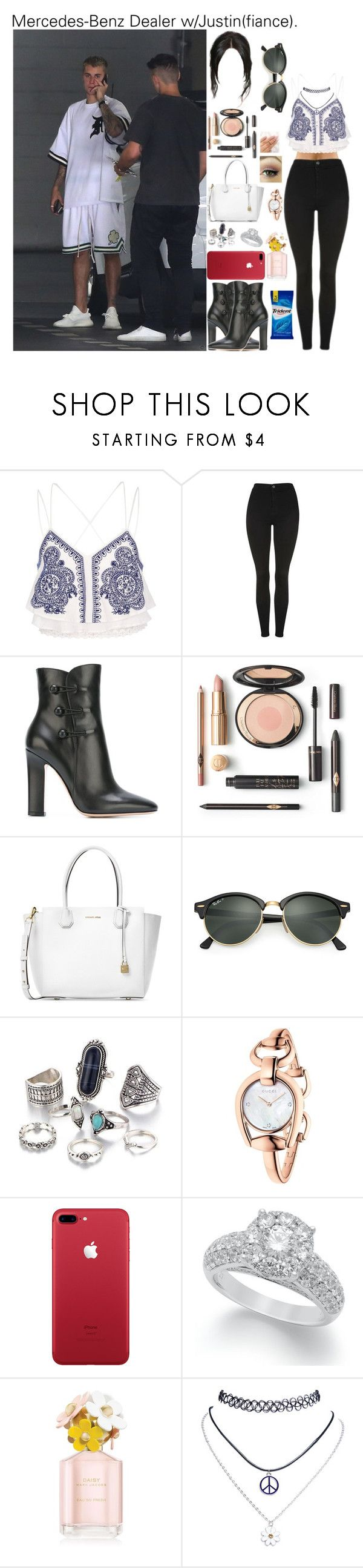 """""""Mercedes-Benz Dealer w/Justin(fiance)."""" by tatabranquinha ❤ liked on Polyvore featuring River Island, Topshop, Gianvito Rossi, Michael Kors, Ray-Ban, Gucci, Marc Jacobs, Wet Seal, outfit and set"""