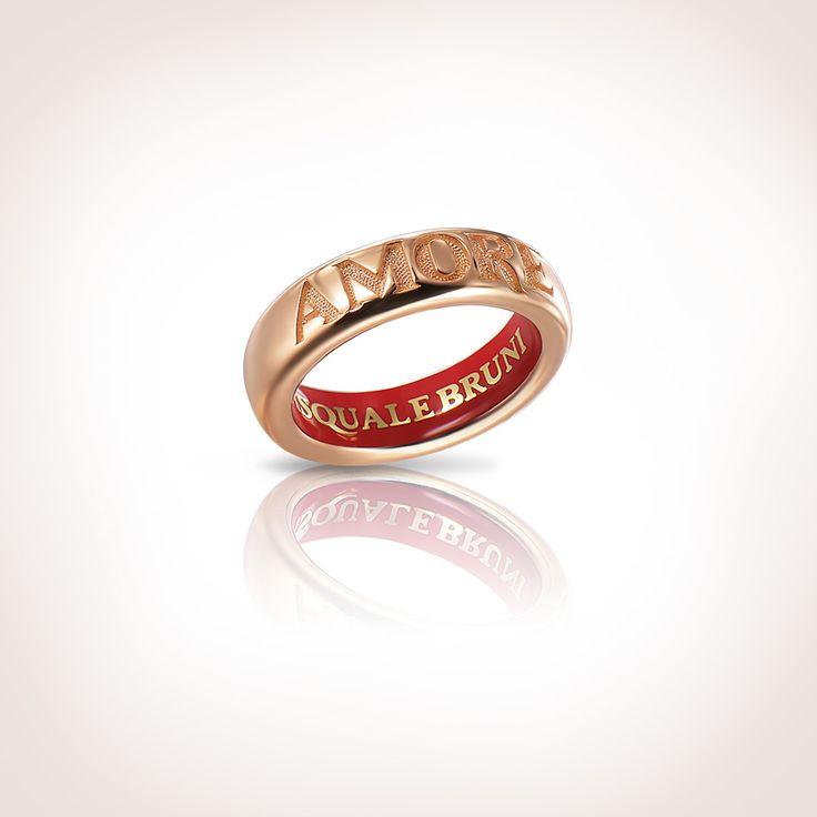 950€ pasquale bruni Anello in oro rosa con smalto rosso