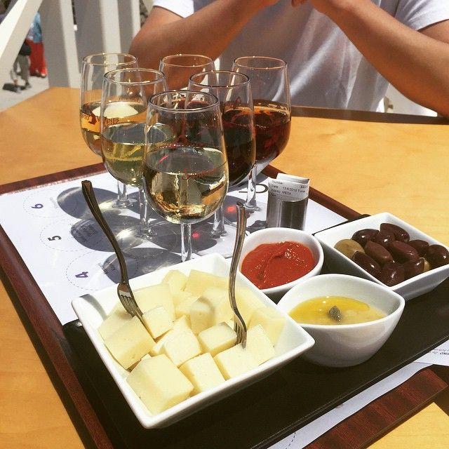 #Wine tasting! #Santorini #SantoWines @vivianefeee