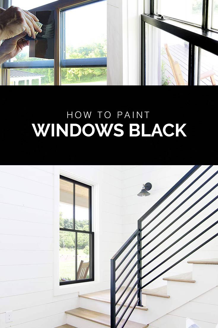 How To Paint Windows Black No Taping Required Black Window Trims Black Window Frames Window Trim Exterior