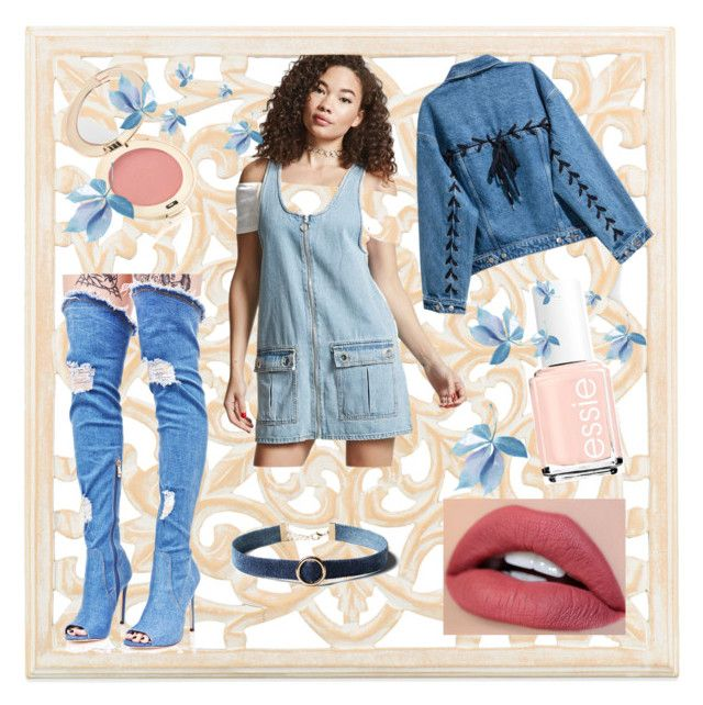 """""""All denim"""" by spookie1 on Polyvore featuring Cape Robbin, WithChic, Jane Iredale and Forever 21"""